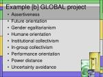 example b global project