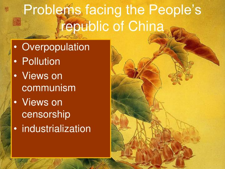 Problems facing the People's republic of China