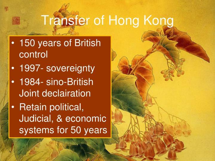Transfer of Hong Kong