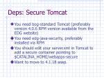 deps secure tomcat