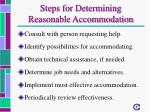 steps for determining reasonable accommodation