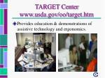 target center www usda gov oo target htm