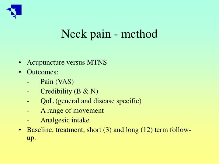 Neck pain method