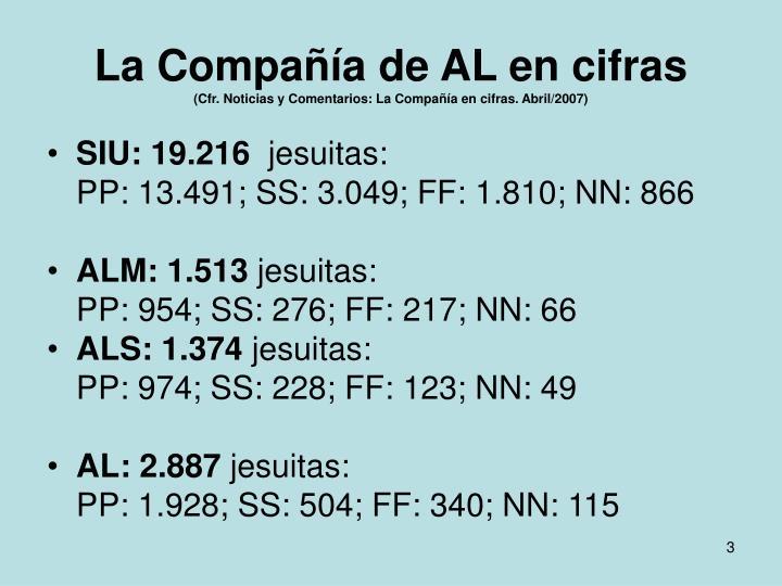 La compa a de al en cifras cfr noticias y comentarios la compa a en cifras abril 2007
