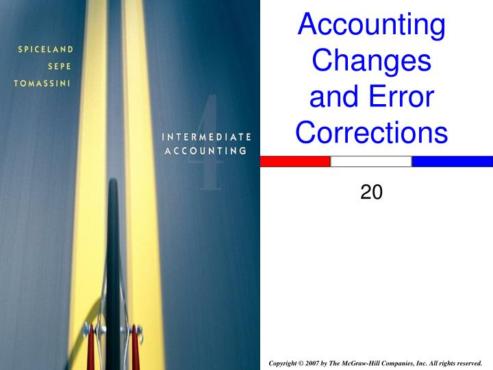accounting changes and error corrections n.