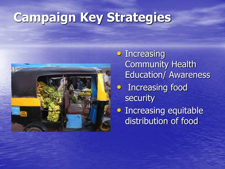 Campaign Key Strategies