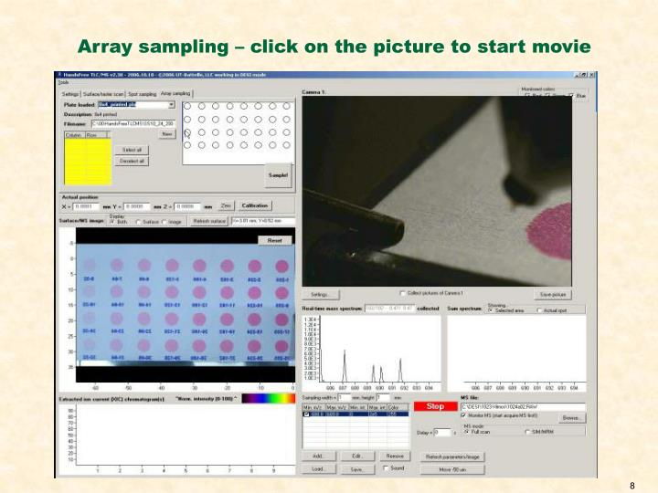 Array sampling – click on the picture to start movie