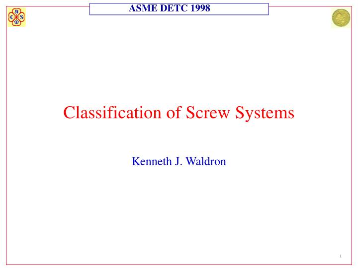classification of screw systems n.