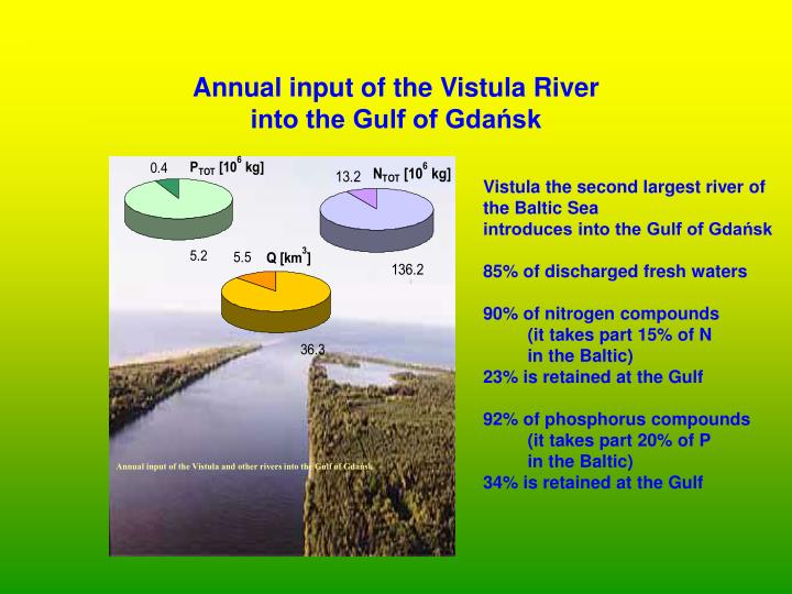 Annual input of the Vistula and other rivers into the Gulf of Gdańsk