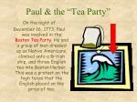 paul the tea party