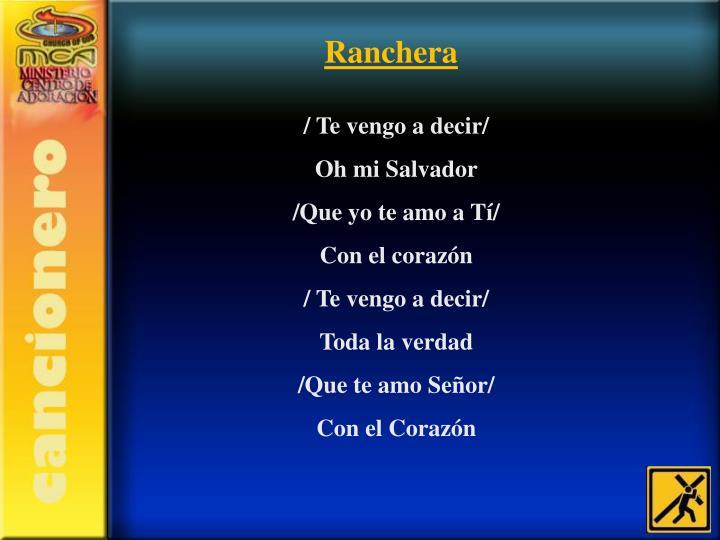 Ranchera