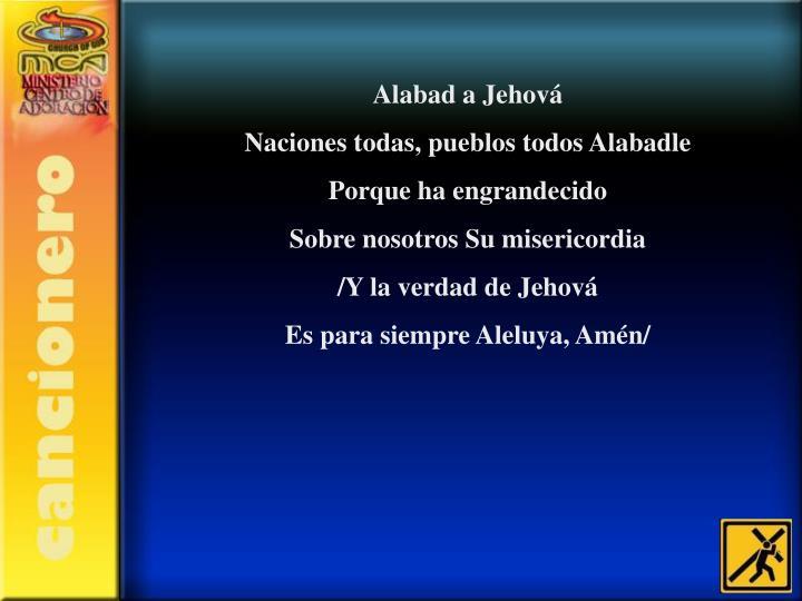 Alabad a Jehová
