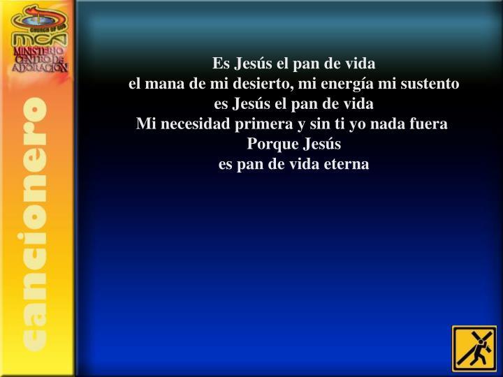Es Jesús el pan de vida