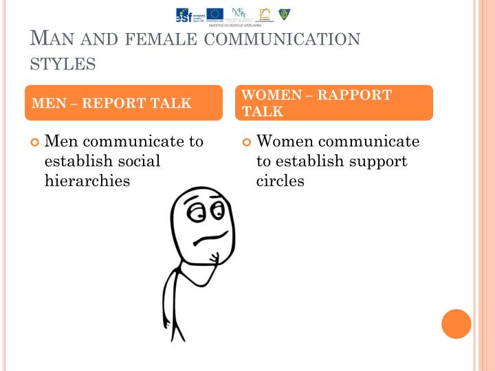 an analysis of communication styles in men and women Media's portrayal of men and women's communication styles - we see the ways that the popular media uses gender tensions everywhere  group communication analysis.