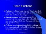 hash functions1