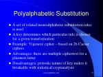 polyalphabetic substitution