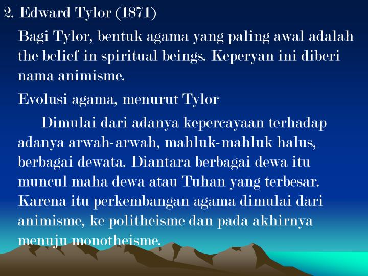 2. Edward Tylor (1871)