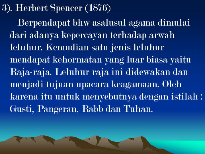 3). Herbert Spencer (1876)