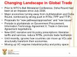 changing landscape in global trade