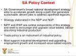 sa policy context