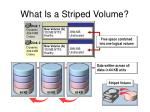 what is a striped volume
