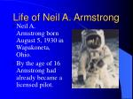 life of neil a armstrong