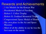 rewards and achievements