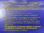 pattern homomorphisms definition
