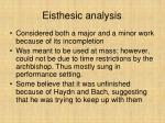 eisthesic analysis