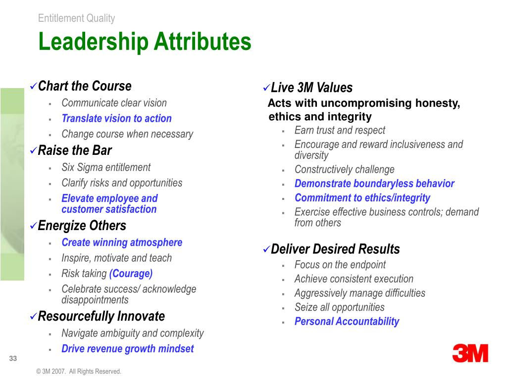 PPT - Entitlement Quality - 3M's Strategy for Growth