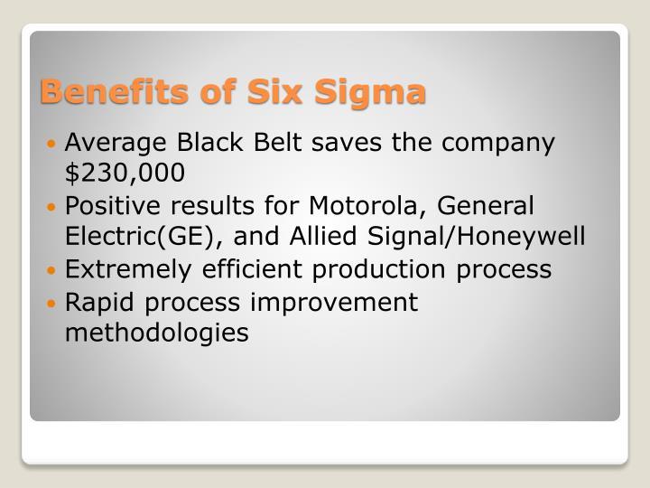 Average Black Belt saves the company $230,000