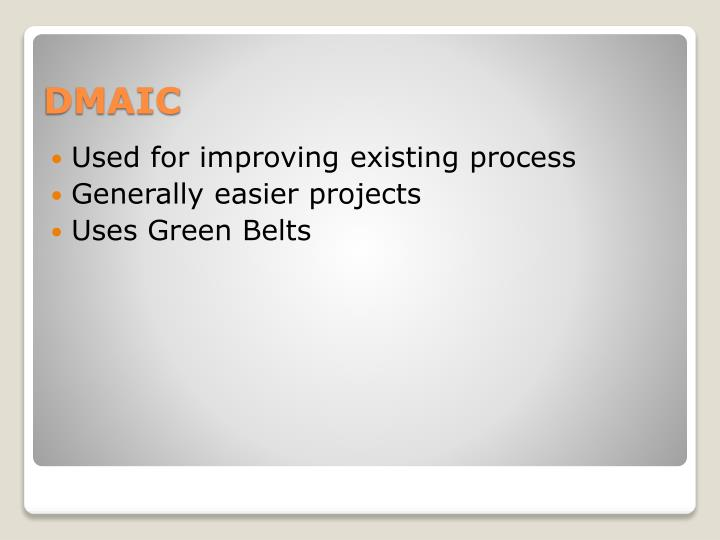 Used for improving existing process
