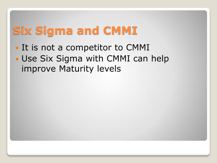 It is not a competitor to CMMI