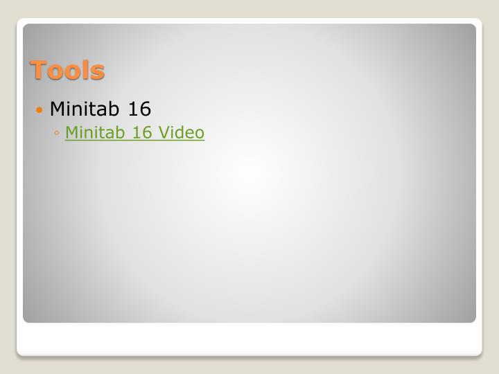 Minitab 16