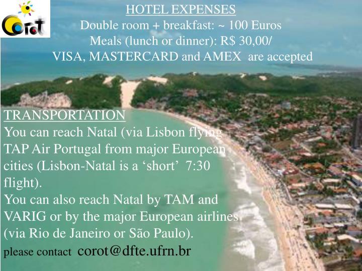 HOTEL EXPENSES