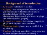 background of transduction