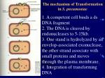 the mechanism of transformation in s pneumoniae