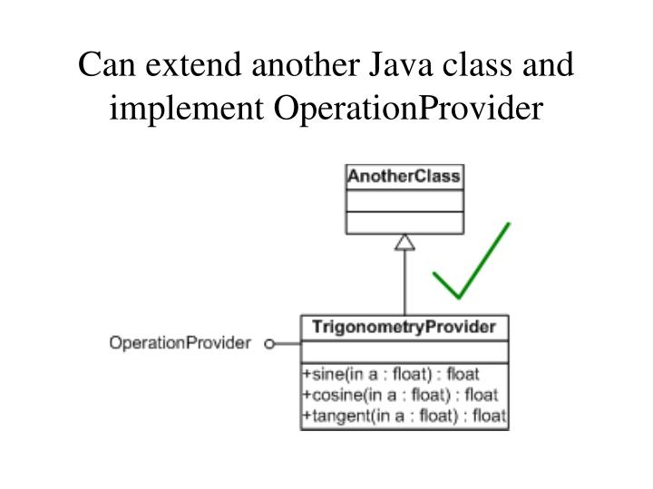 Can extend another Java class and implement OperationProvider