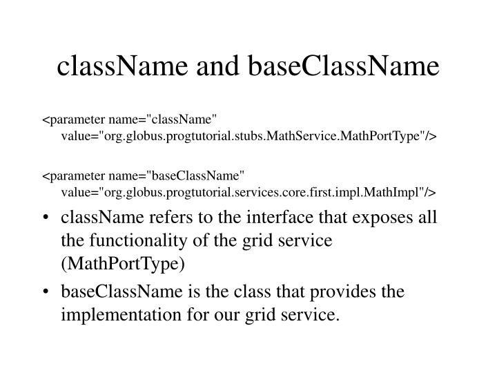 className and baseClassName