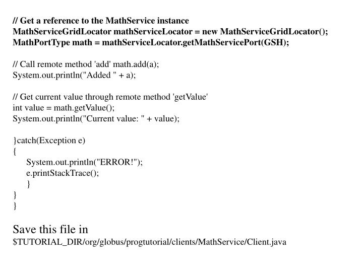 // Get a reference to the MathService instance