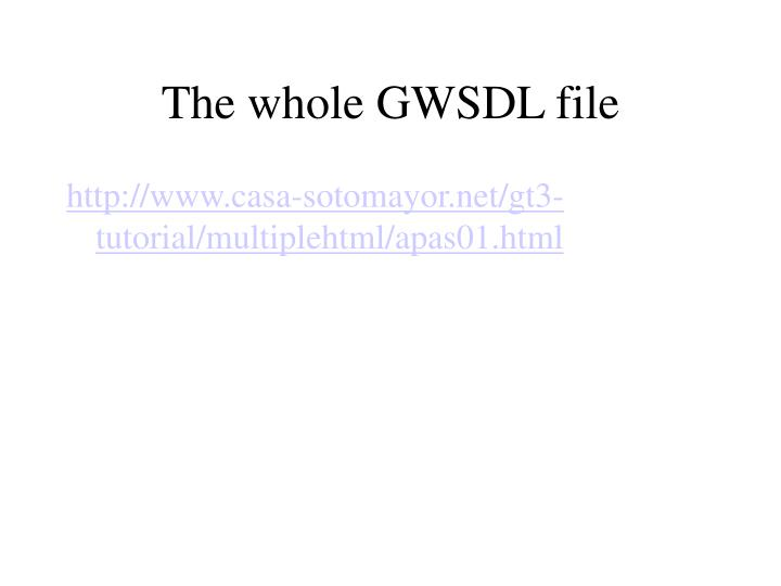 The whole GWSDL file