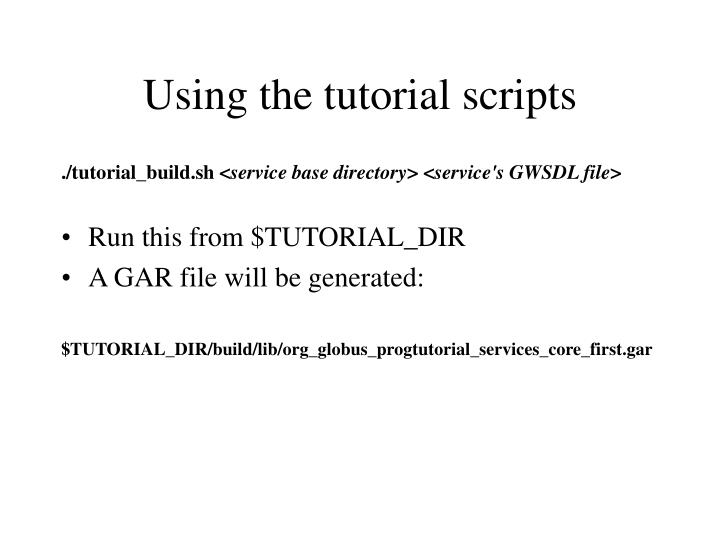 Using the tutorial scripts