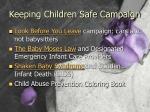 keeping children safe campaign