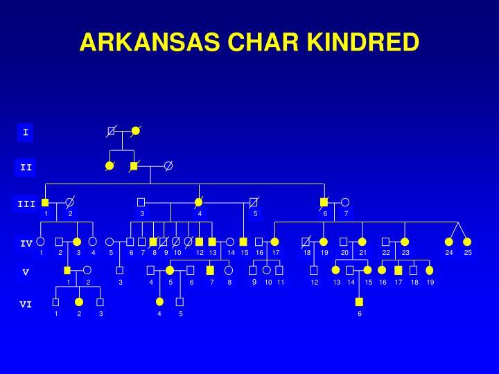 ARKANSAS CHAR KINDRED
