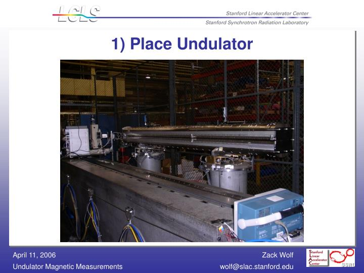 1) Place Undulator