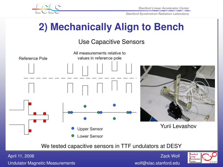 2) Mechanically Align to Bench