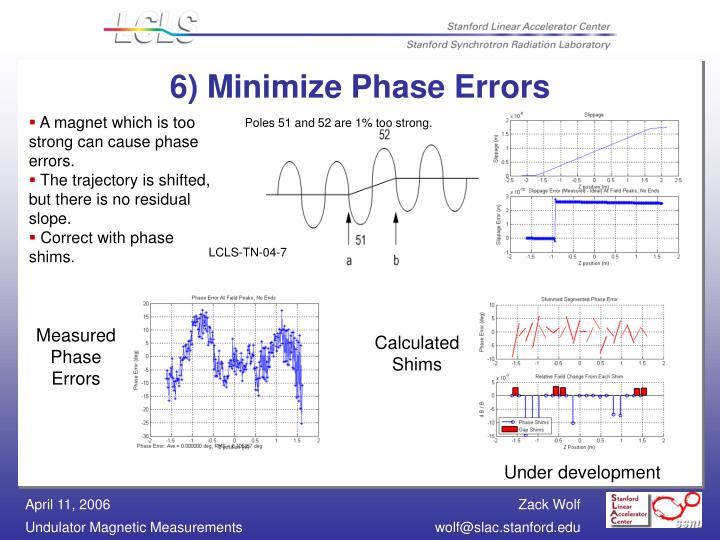 6) Minimize Phase Errors