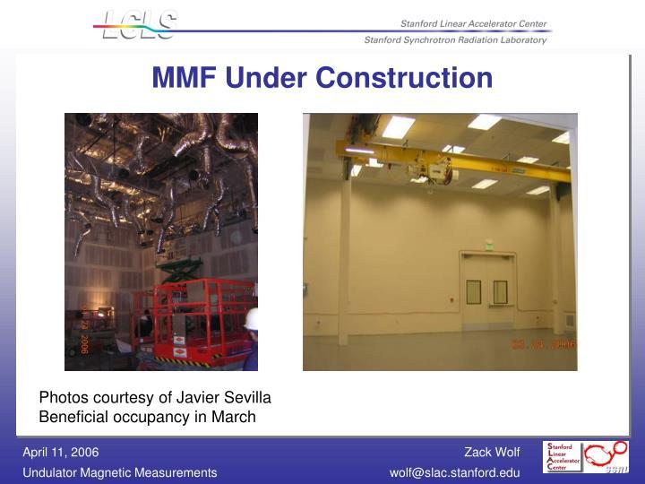 MMF Under Construction