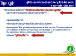 glite service discovery file based example cfg xml