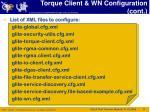 torque client wn configuration cont